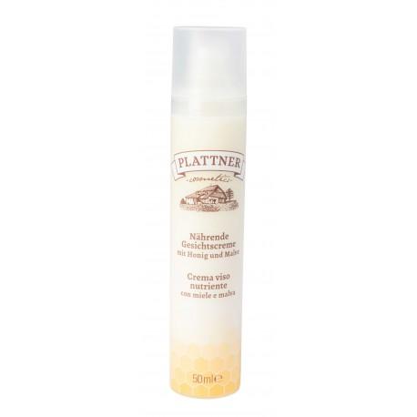 Nährende Gesichtscreme mit Honig und Malve